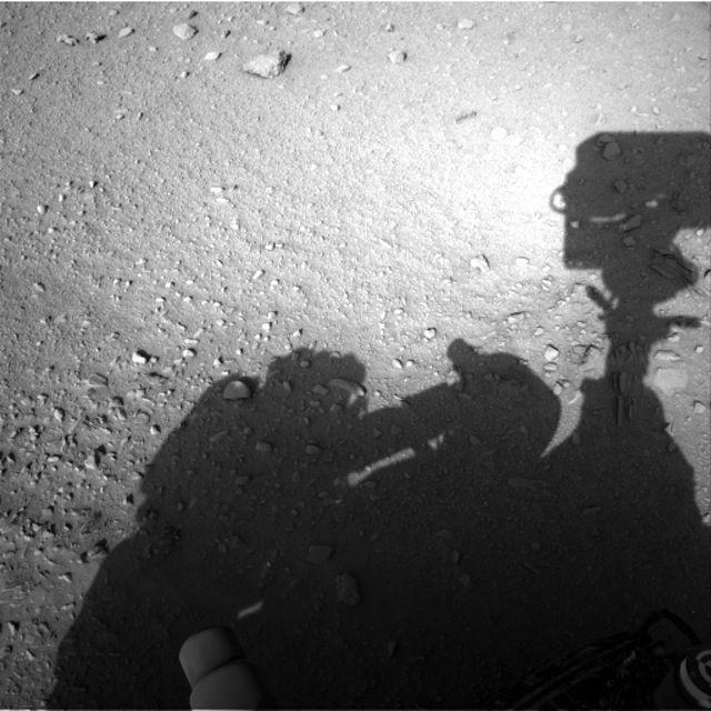 Human Shadow Seen On Mars?: The Shadow on Mars?