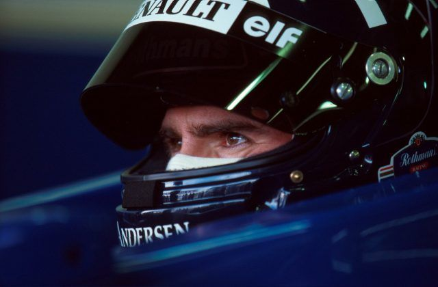 Interlagos, March 1996: Damon Hill, deep in concentration, ahead of his dominant victory for Williams in the Brazilian Grand Prix. He went on to win four of the first five races of the season. © Sutton Images