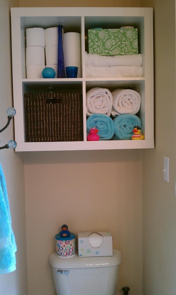 Wall mounted an ikea expedit shelf using l brackets to se for Ikea expedit wall shelf