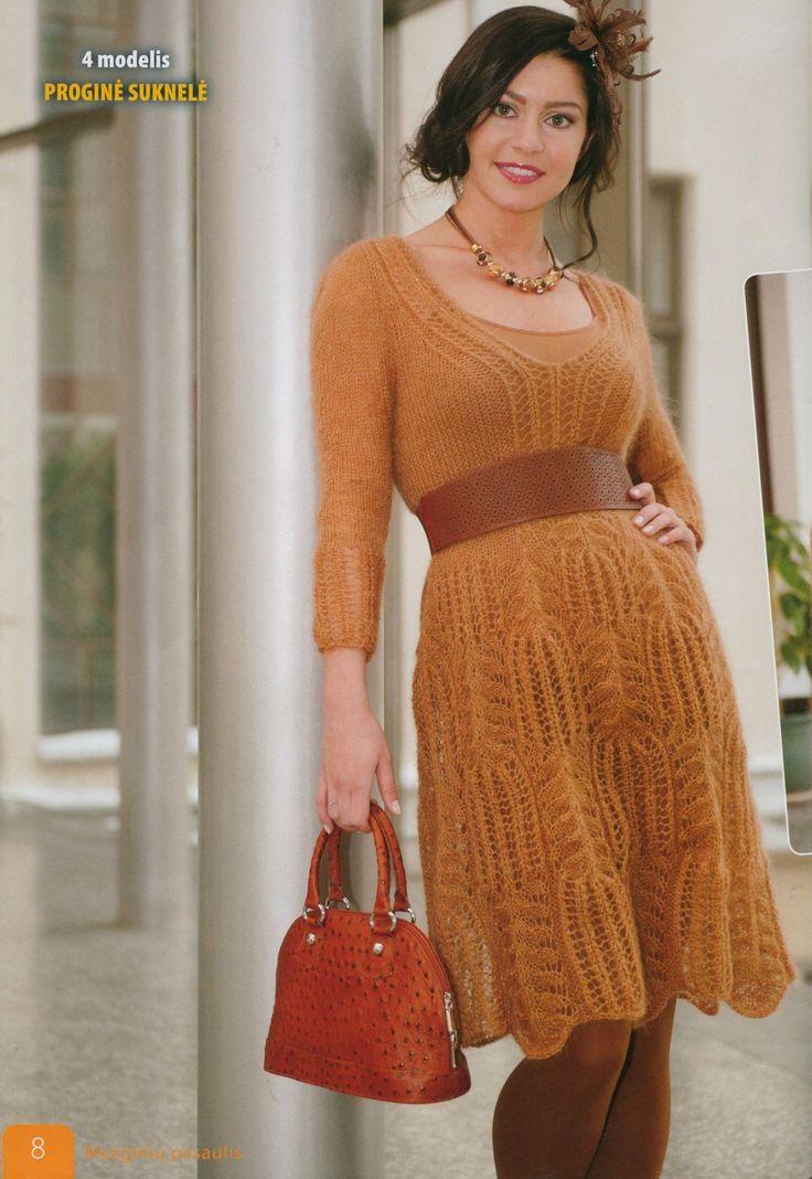 Праздничное платье спицами
