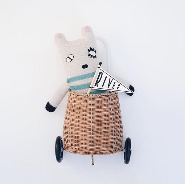 Stanley Delarge from Lucky Boy Sunday is from their Secret Friends collection  Wise and wonderful; this soft toy is made from the softest merino alpaca and eco-