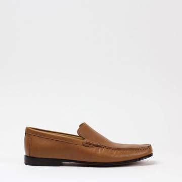INDIOS NOGUAR 4 Nappa Portofino  Cammello Loafer Shoes Men Shoes