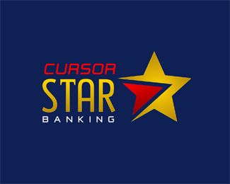CURSOR STAR (CURSOR STAR BANKING) Logo design - Great brand for Banks, Internet and Consulting business too. The name can be Cursor STAR,Cursor STAR Banking or else, colors can be changed for free. Price $450.00