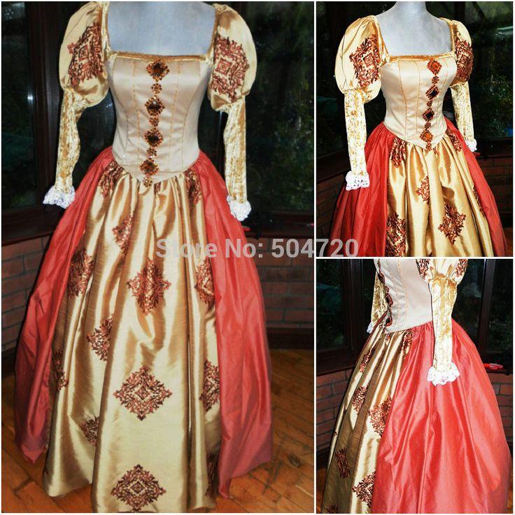 Freeshipping! r-552 vintage kostuums 1860 s burgeroorlog southern belle jurk baljurk/gothic lolita jurk victoriaanse jurken €132,02