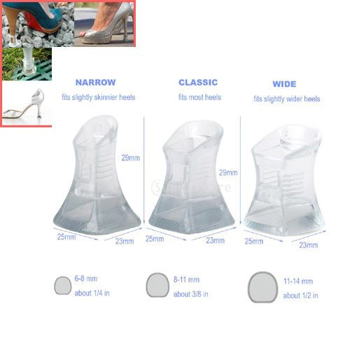 Footful 1 Pair High Heel Shoes Heel Protectors Heel Stoppers Size S M L - Clear #Footful