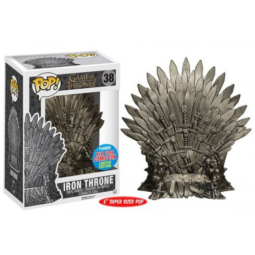 Funko Pop! Iron Throne, Trono de Ferro, Game of Thrones, GOT, HBO, NYCC Exclusive, Funkomania, Séries