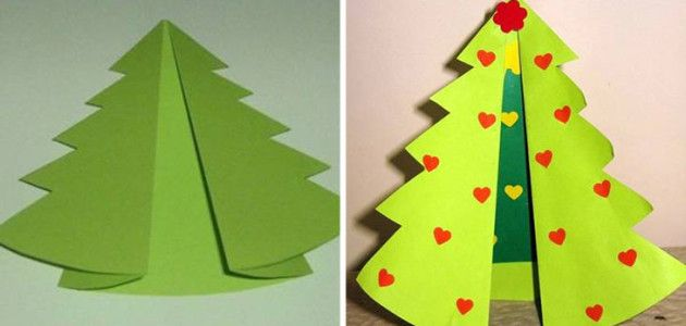Tarjeta de felicitación navideña con cartulina #manualidades #Navidad