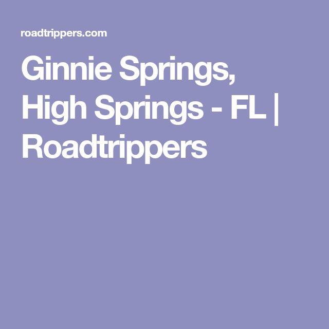 Ginnie Springs, High Springs - FL | Roadtrippers