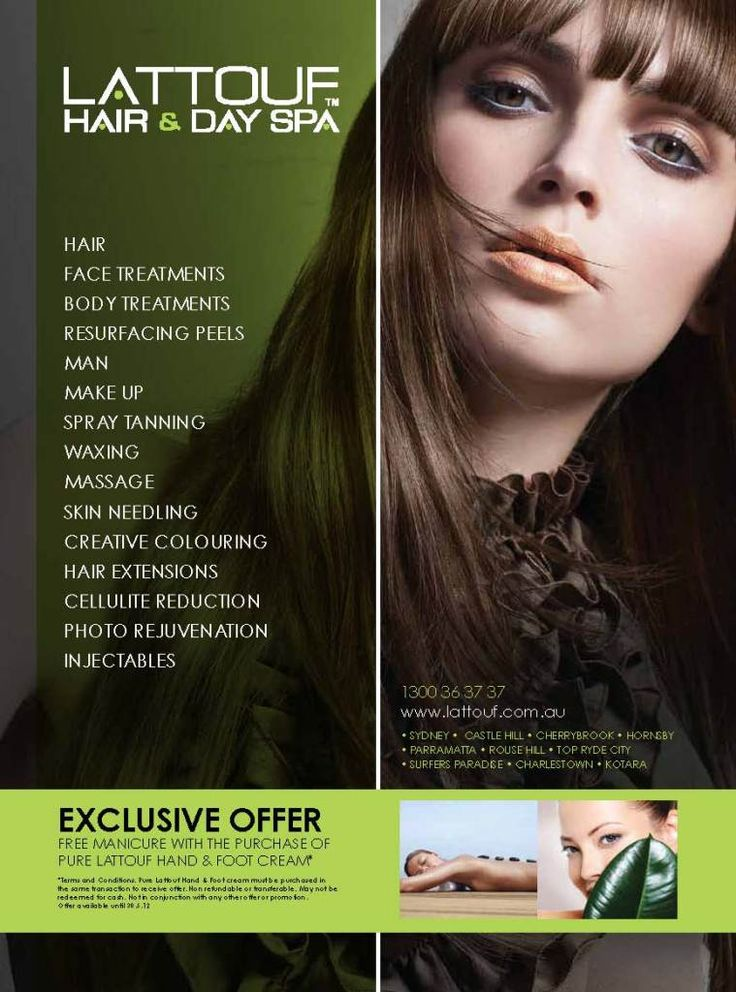 Lattouf Hair & Day Spa » Print Media