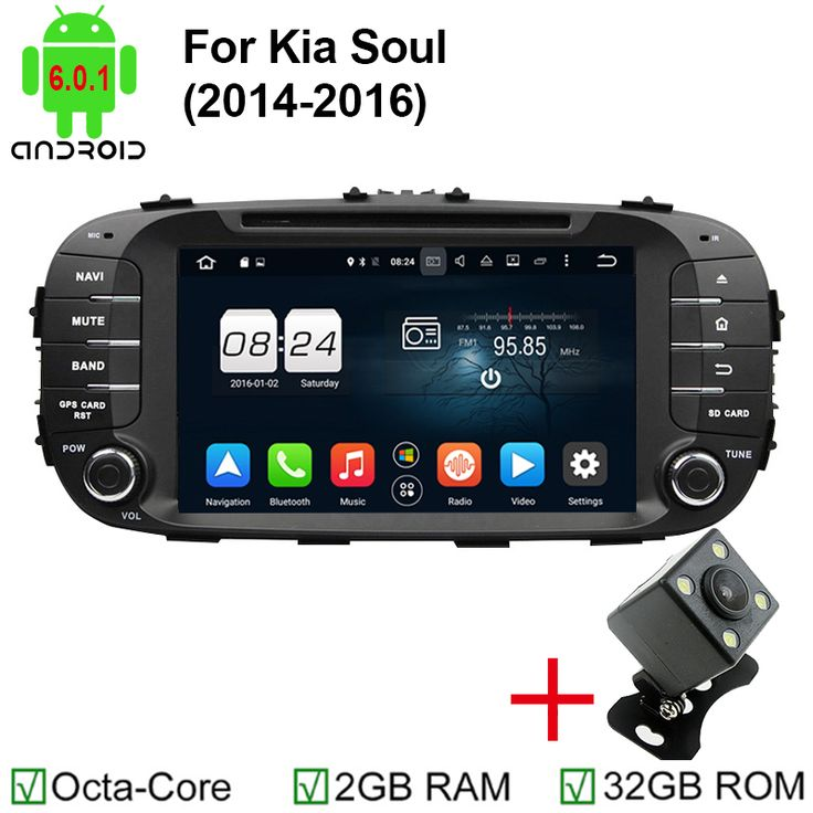 """1024*600 8"""" Android 6.0 2GB RAM Octa Core DVD Fit for Kia Soul 2014 2015 2016 Navi Automobile GPS Radio Bluetooth Support 4G"""