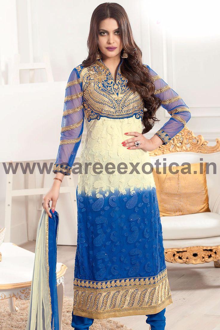Flaunt your inner beauty wearing this beauteous designer Salwar Suit - www.sareeexotica.in