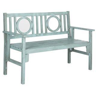 Safavieh Outdoor Living Piedmont Beach House Blue Folding Bench   Overstock.com Shopping - The Best Deals on Outdoor Benches