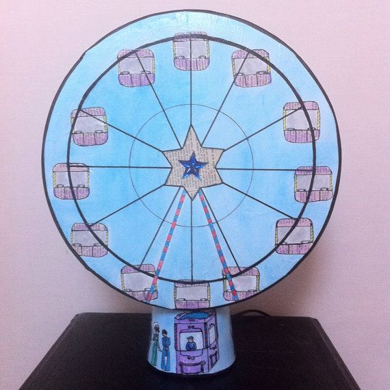 Lamp magic blue wheel Chinese shadows by LuminiciousFactory