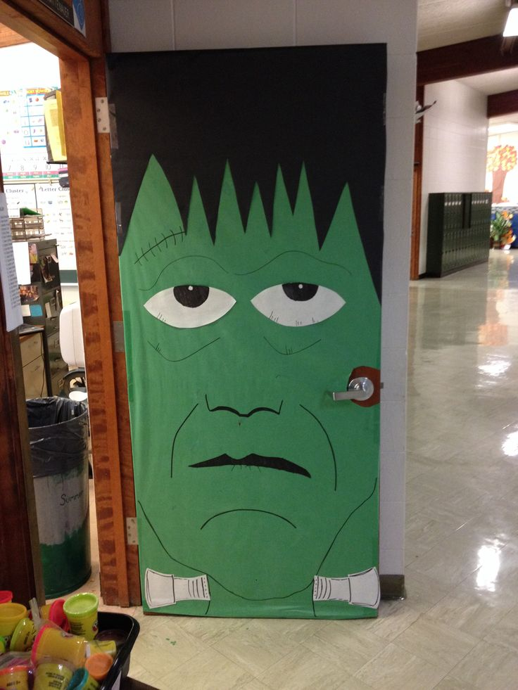 Easy Classroom Decoration Ideas ~ Frankenstein door for my first grade classroom