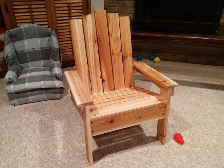 Cedar version of kids Adirondack chair