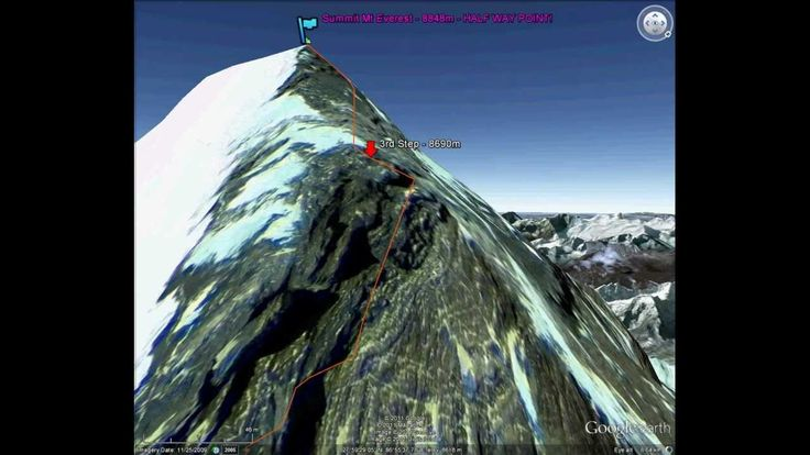 Mount Everest North Ridge Climbing Route in 3D