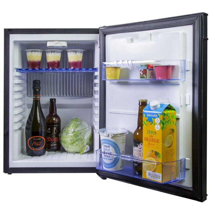 Smad Caravane Camping-Car Gaz Réfrigérateur 110 V-220 V et 12 V Propane Réfrigérateur D'absorption, Mini Portable Réfrigérateur Bar Refroidisseur Noir