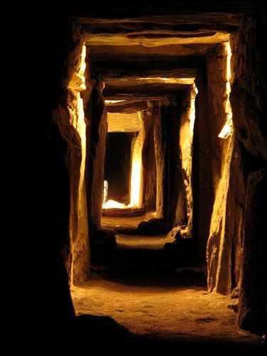 Newgrange in Ireland. It's an ancient (older than Stonehenge!) monument that is lit by the sun only on the winter equinox.