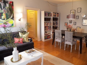 D.C. Apartment eclectic dining room