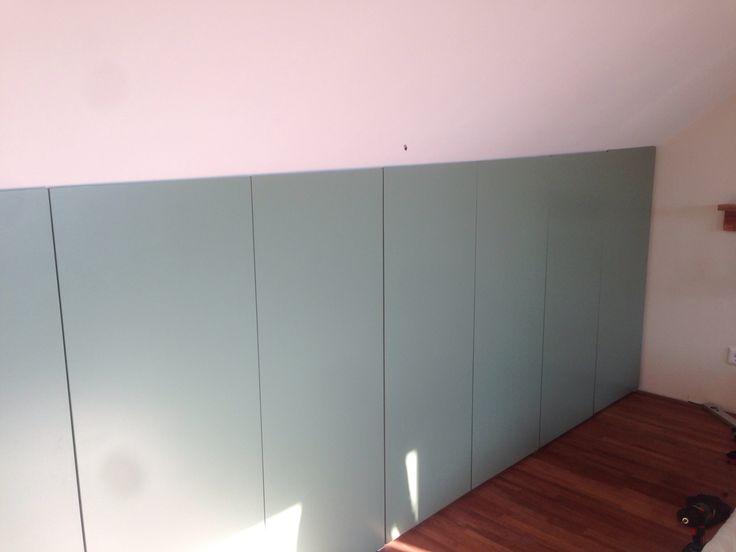 Schuine Kast Zolder : Handmade zolder kast onder schuine wand ikea pax kast afgezaagd