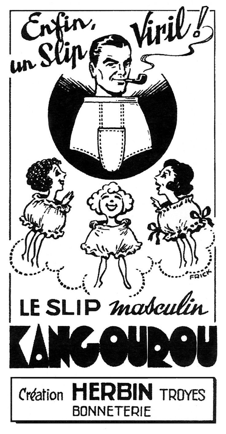 Les Arts Décoratifs - Site officiel - Diaporama - Publicité pour le slip Kangourou, 1948