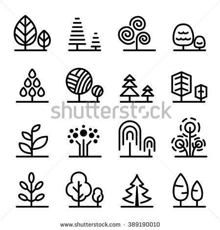 Tree icon - stock vector