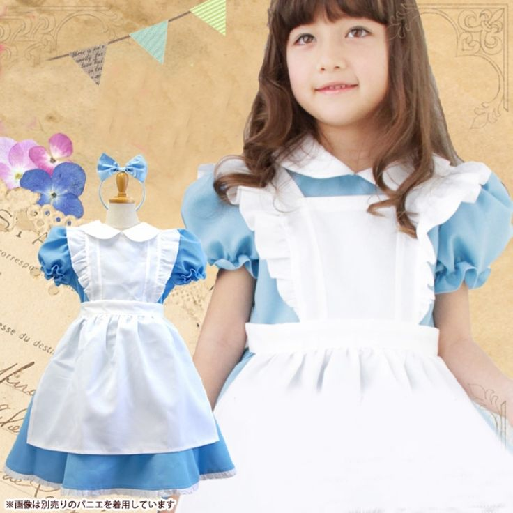 >> Click to Buy << HOT girl cosplay outfit costumes kids Alice in Wonderland clothes Children princess dress knee-length bow ball gown dresses #Affiliate