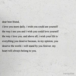 to my best friend...