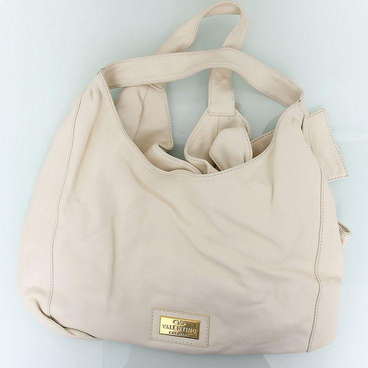 Кожаная сумка Valentino белая среднего размера !! Распродажа модели !! Модель со скидкой !!