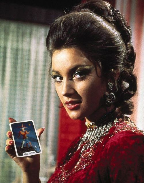 Solitaire is a fictional character in the James Bond novel and film Live and Let Die. In the film, she was portrayed by Jane Seymour. Solitaire is a psychic in the employ of Dr. Kananga. As James Bond travels to New York by plane, Solitaire describes his journey to Dr. Kananga through the use of Tarot cards. The one drawback to her ability is that she must remain a virgin in order to preserve it.