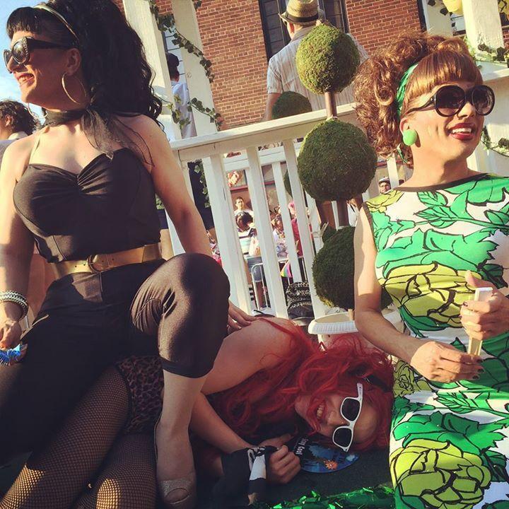 BenDeLaCrème, Adore Delano and Bianca Del Rio at NYC Pride Parade