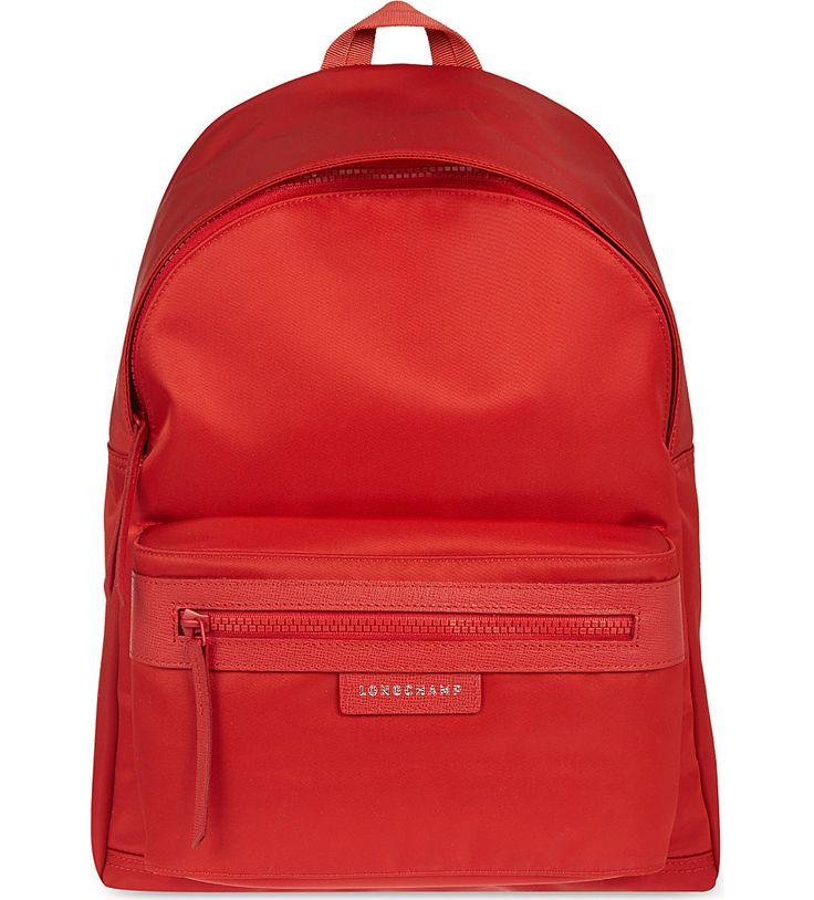 Longchamp Orange Backpack