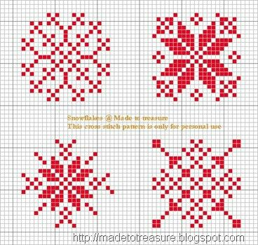 Cross stich snowflakes