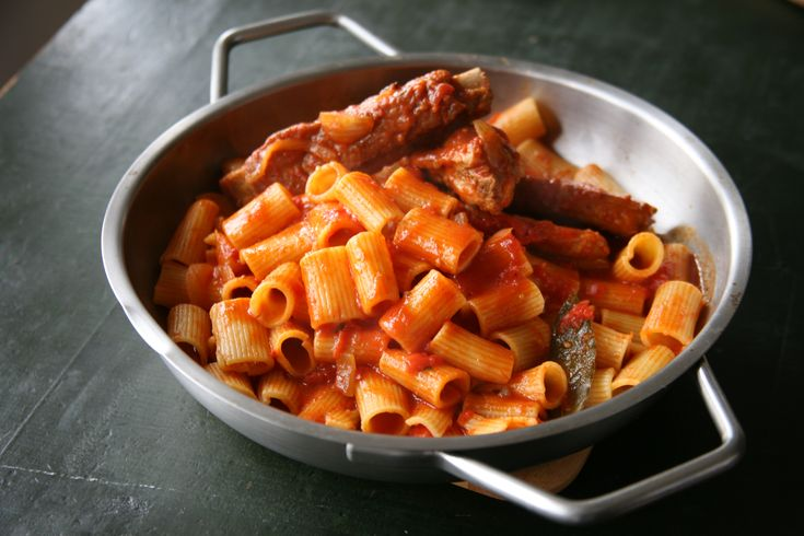 Just wanted to share this delicious recipe from Lidia Bastianich with you - Buon Gusto! Braised Pork Ribs with Rigatoni