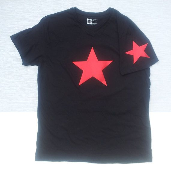 Winter Soldier Five Point Star Short Sleeve Customised T Shirt by GothicChameleon, £18.00