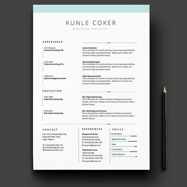 New Cv Template From Scrept Available In Microsoft Word Download Link In Bio Www Scrept Com Graphicdesig Word Template Microsoft Word Templates Cv Template