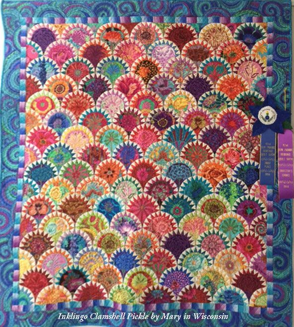 Clamshell Pickle quilt by Mary with Inklingo