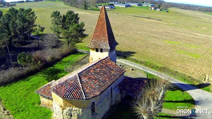 Aerial drone Photo from France by Pachanc : D6, 32110 Magnan, France