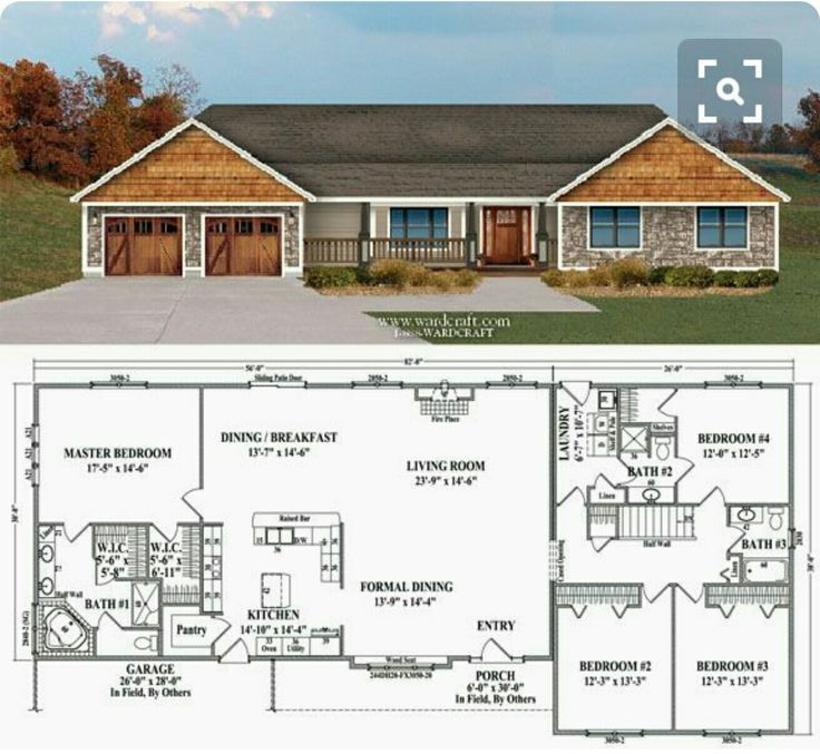 Best 20 ranch style house ideas on pinterest ranch for 4 bedroom house plans with front porch