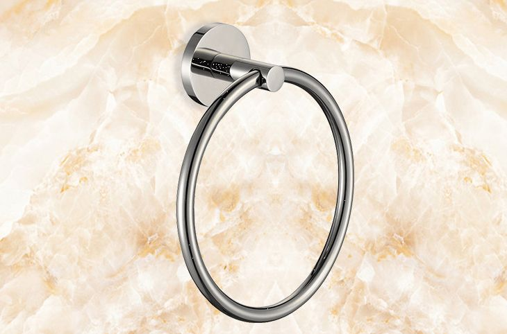 Wall Mounted Stainless Steel 304 Modern Towels Ring  free shipping