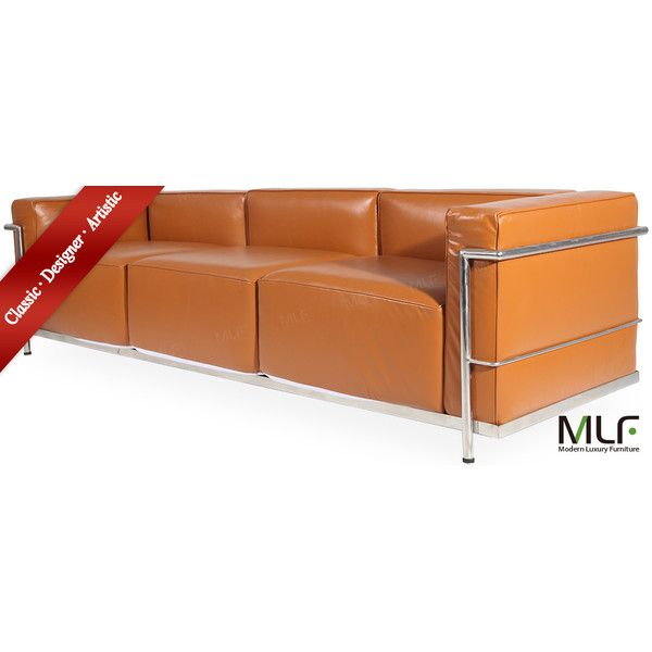 mlf le corbusier lc3 grande czk liked on polyvore featuring home furniture sofas mid century modern furniture