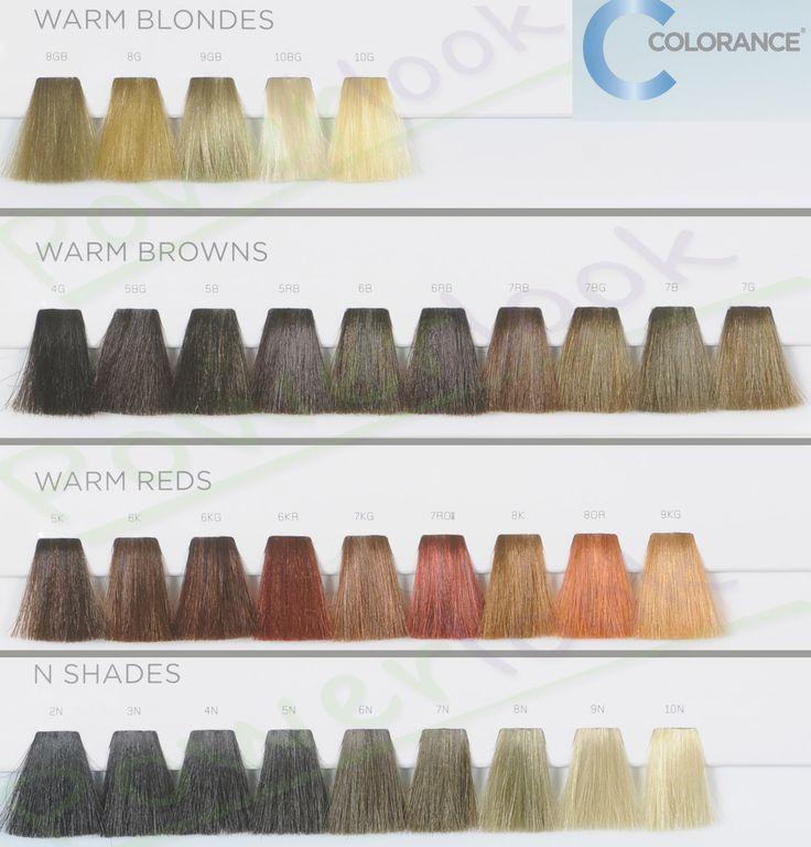 Goldwell colorance color chart heart impulsar co