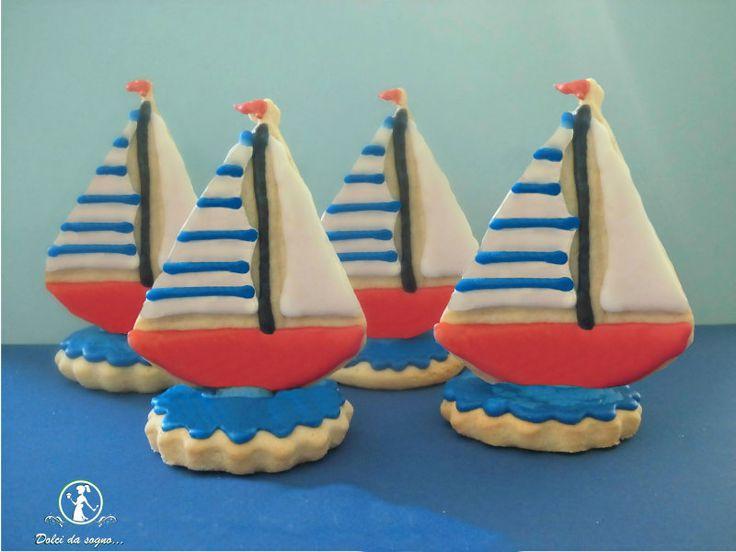 Biscotti barca a vela in 3D