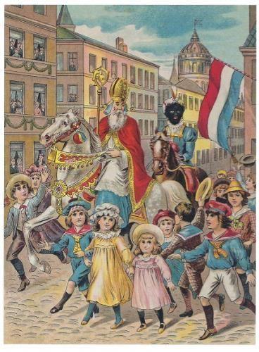 de intocht van Sint en Pieterbaas