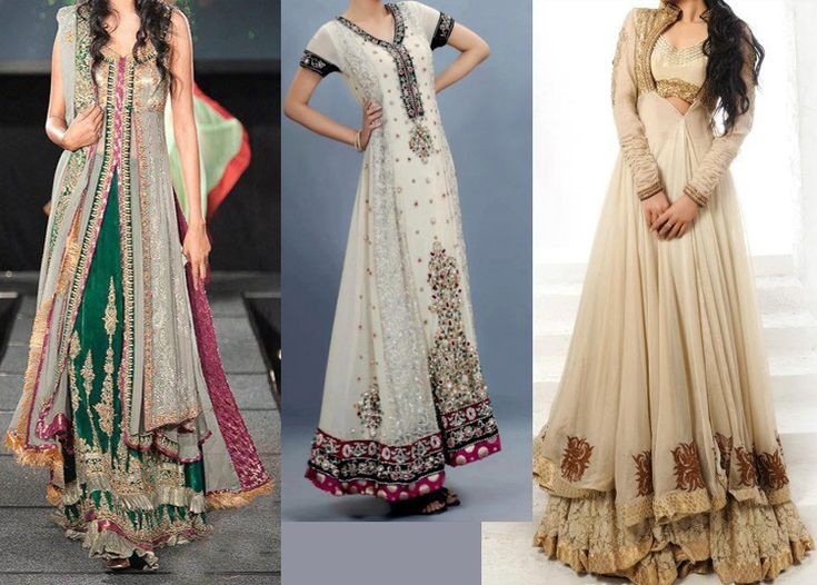 Latest Trends of Bridal Maxi Dresses 2015 in Pakistan for Girls ...