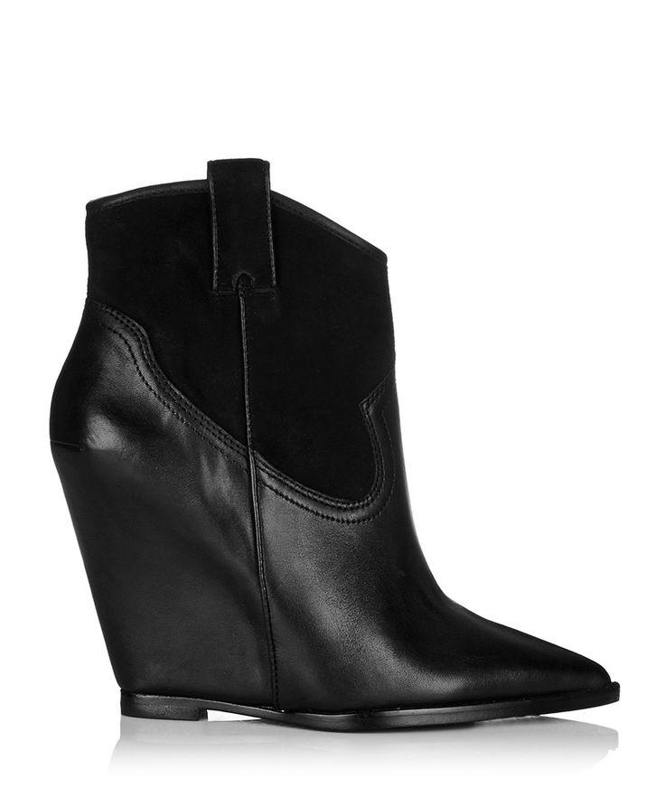 Ash Jude black leather pointed wedge boots, Designer Footwear Sale, Women's Shoe Sale: Sizes 5-6 , SECRETSALES