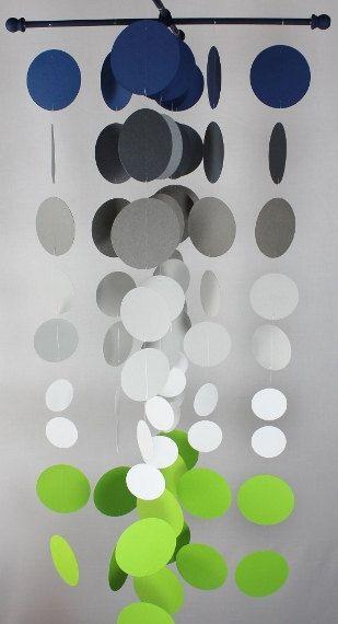 Handmade Smokie Nursery Mobile...Navy and Apple by katemaedesigns