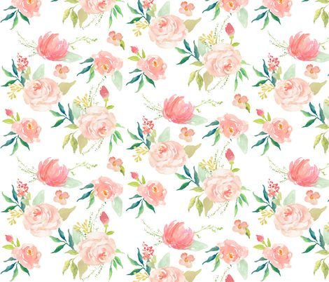 Pink Ice Florals fabric by shopcabin on Spoonflower - custom fabric