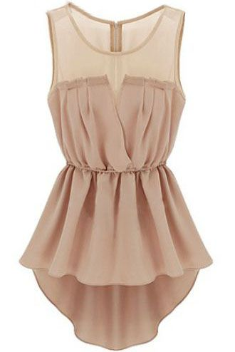 Pink Sleeveless Back Zipper Bandeau High Low Dress US$22.13 http://www.sheinside.com/Pink-Sleeveless-Back-Zipper-Bandeau-High-Low-Dress-p-139474-cat-1727.html