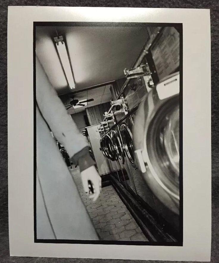 Mid Century Modern Fine Art Portrait Photograph Woman Vtg Laundromat Abstract